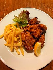 鶏の唐揚げ(5ヶ)+ポテト+綾鷹(缶)セット